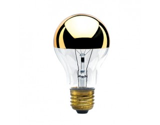 Bulbrite 712416 - 60A19HG - 60 Watt - 120 Volt - Incandescent - A19 - Medium (E26) - Clear Half Gold - 2,700 Kelvin