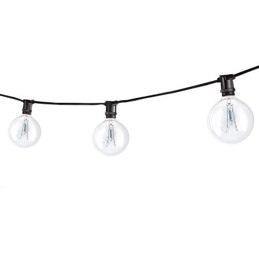 Bulbrite 810041 - STRING15/E12/BLACK-G16KT - Outdoor Mini String Light w/Incandescent G16 Globe ...